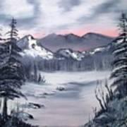Winter In Three Colors Art Print