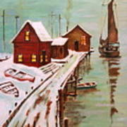 Winter Sail Art Print