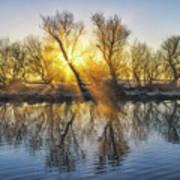 Winter Sunrise Over The Ouse Art Print