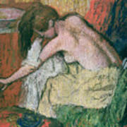 Woman Drying Herself Print by Edgar Degas