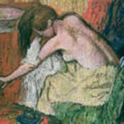 Woman Drying Herself Art Print