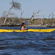 Woman Kayaking Art Print