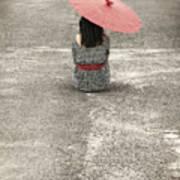 Woman On The Street Print by Joana Kruse