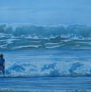 Women In The Surf Art Print