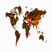 World Map 2b Art Print