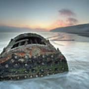 Wreck Of Laura - Filey Bay - North Yorkshire Art Print