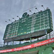 Wrigley Scoreboard Print by David Bearden