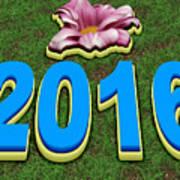 Year 2016 Art Print