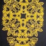 Yellow Butterfly-cross Art Print