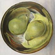 Yin Yang Pears Art Print