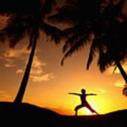 Yoga At Sunset Art Print