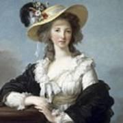 Yolande-martine-gabrielle De Polastron Duchesse De Polignac Lisabeth Louise Vige Le Brun Art Print