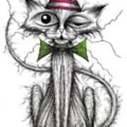 Zippy Cat Art Print