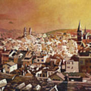 Zurich Skyline Art Print