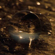 10-17-16--8634 The Moon, Don't Drop The Crystal Ball, Crystal Ball Photography Art Print