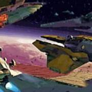 A Star Wars Poster Art Print