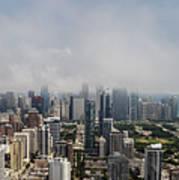 Chicago Skyline Aerial Photo Art Print