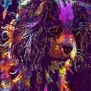 Dog Cavalier King Charles Spaniel  Art Print