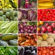 Fruit And Vegetable Collage Art Print