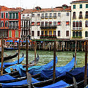 Gondola, Canals Of Venice, Italy Art Print