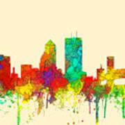 Jacksonville Florida Skyline Art Print