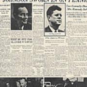 John F Kennedy (1917-1963) Art Print