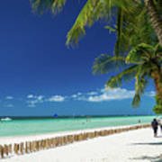 Main Beach Of Tropical Paradise Boracay Island Philippines Art Print