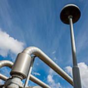 Pipes At Nesjavellir Geothermal Power Art Print