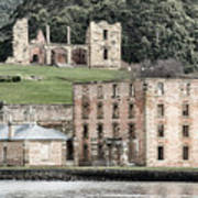 Port Arthur Building In Tasmania, Australia. Art Print