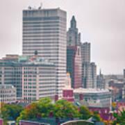 Providence Rhode Island City Skyline In October 2017 Art Print