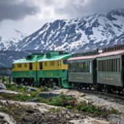 Scenic Train From Skagway To White Pass Alaska Art Print
