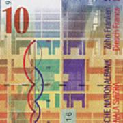 10 Swiss Franc Bill Art Print