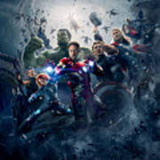 The Avengers Age Of Ultron 2015  Art Print