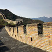 The Mutianyu Section Of The Great Wall Of China, Mutianyu Valley Art Print