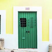 Wooden Door In Old San Juan, Puerto Rico Art Print