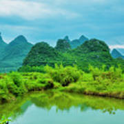 Karst Rural Scenery In Spring Art Print