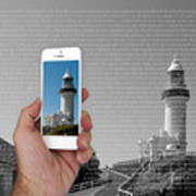 1000 Words-byron Bay Lighthouse Art Print