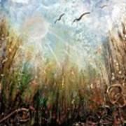 #1005 Golden Rays Art Print