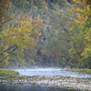 1010-3979 Buffalo River Boxley Valley Fall Art Print by Randy Forrester