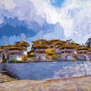 108 Stupas Art Print