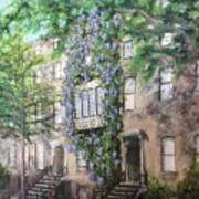 10th Street Wisteria Art Print