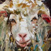 10x10 Sheep Art Print