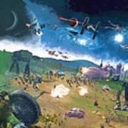 2 Star Wars Poster Art Print