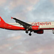 Air Berlin Airbus A320-214 Art Print