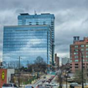 Atlanta Downtown Skyline Scenes In January On Cloudy Day Art Print