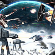 Empire Star Wars Poster Art Print