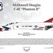 Mcdonnell Douglas F-4e Phantom II Thunderbird Art Print