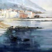 Misty Landscape Art Print