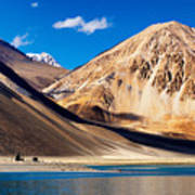 Mountains Pangong Tso Lake Leh Ladakh Jammu And Kashmir India Art Print
