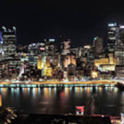 Pittsburgh Skyline At Night Art Print